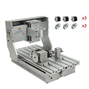 DIY cnc 3020 рамка 3 оси 4 оси для ЧПУ Гравировальный фрезерный станок ограничительные переключатели с Nema23 шаговые двигатели муфты