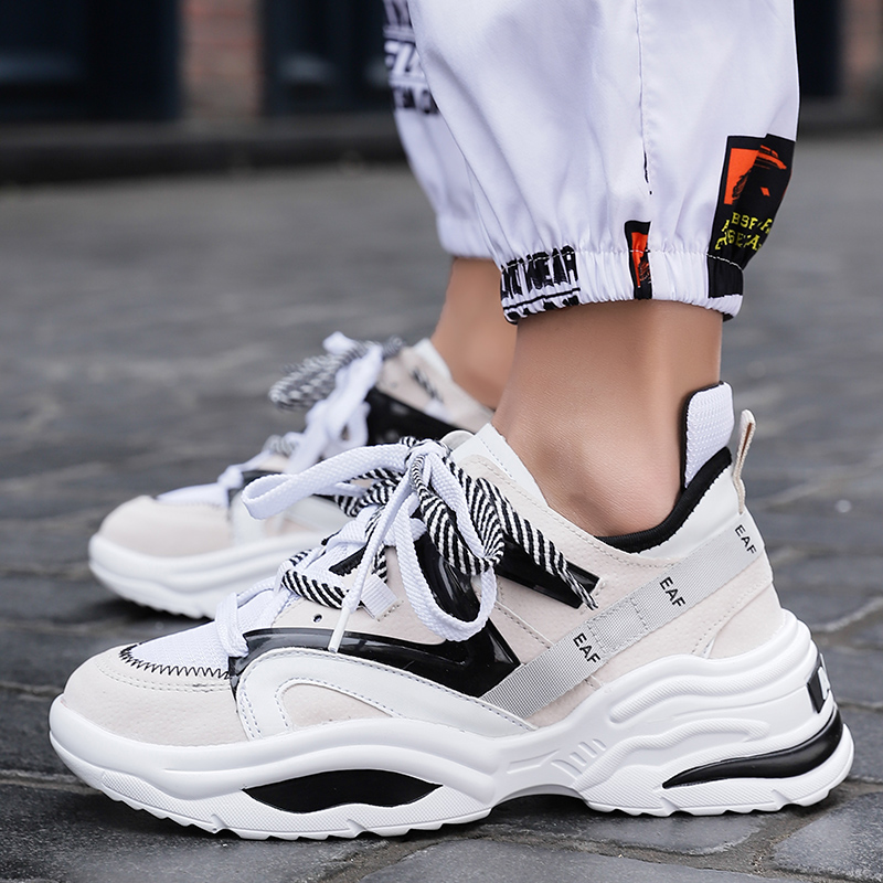 2019 Women Running Shoes Mesh Fashio Men Sports Shoes High Quality Fashion men's Running Shoes Chunky Sneakers Breathable 35-48