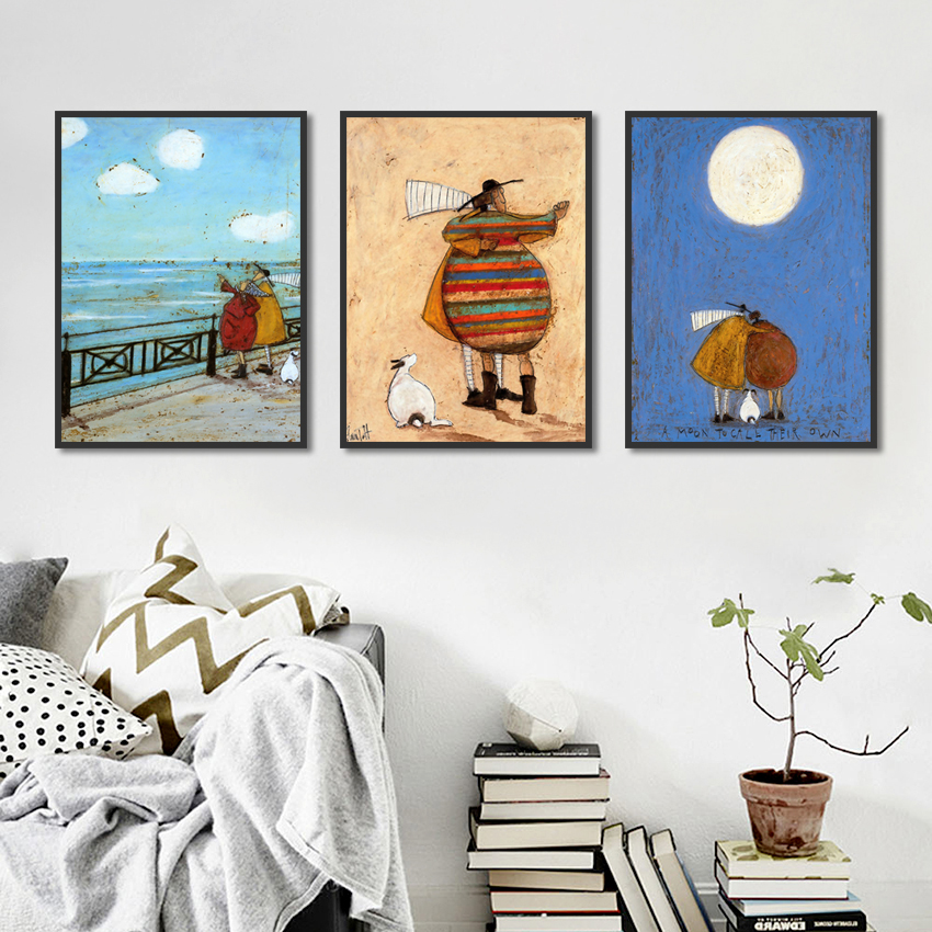 Happy Family Canvas Painting Wall Art Abstract Posters Home Decoration For Living Room Painting On The Wall Unframed Artwork