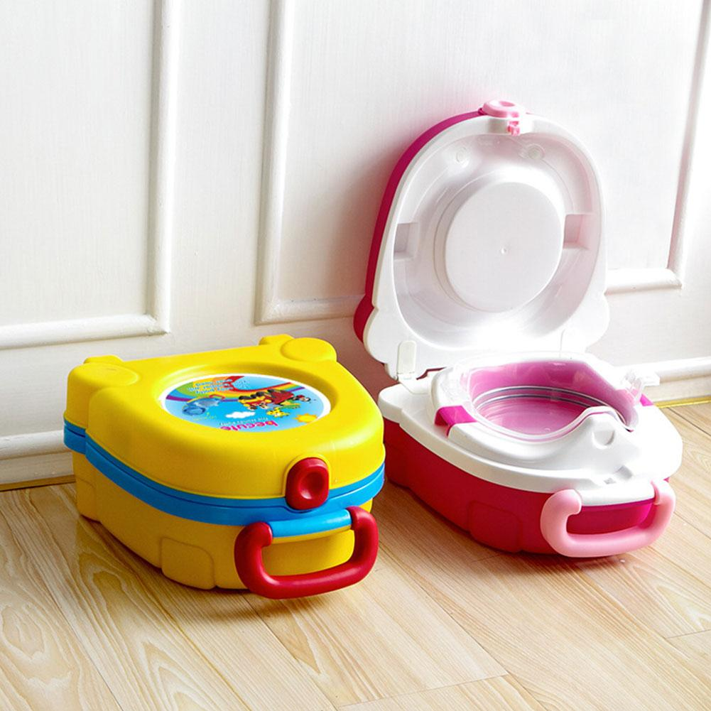 Toddler Travel Potty, Portable Child City Travel Toilet Training Toilet Seat Removable Handheld Simple And Convenient Assembly