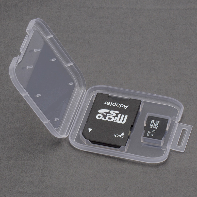 Image 2 - SD Memory Card Case TD Holder Protector Transparent Box Plastic Storage Memory Card Cases-in Memory Card Cases from Computer & Office