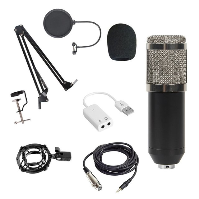 Bm800 Condenser Microphone Host Computer Recording Stand Large Diaphragm Microphone Live Broadcast Equipment Set
