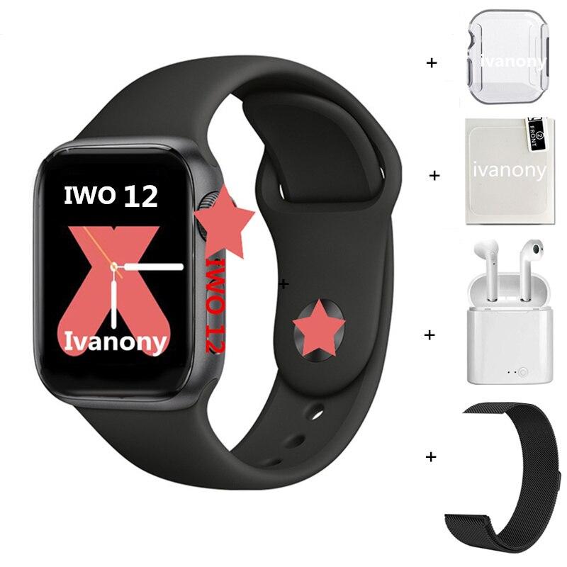 W55 Smart Watch IWO 12 Pro 44MM IWO12 Serie 5 Bluetooth Watch for Apple IPhone Siri  VS IWO 11 IWO10 IWO 8 Smartwatch men women