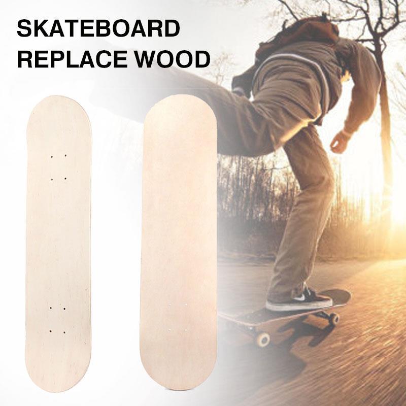 Simple Double Skate Decks Blank Skateboard Decks 8 Inch Contest Exercises Enjoyment Sports Double Concave Deck Natural