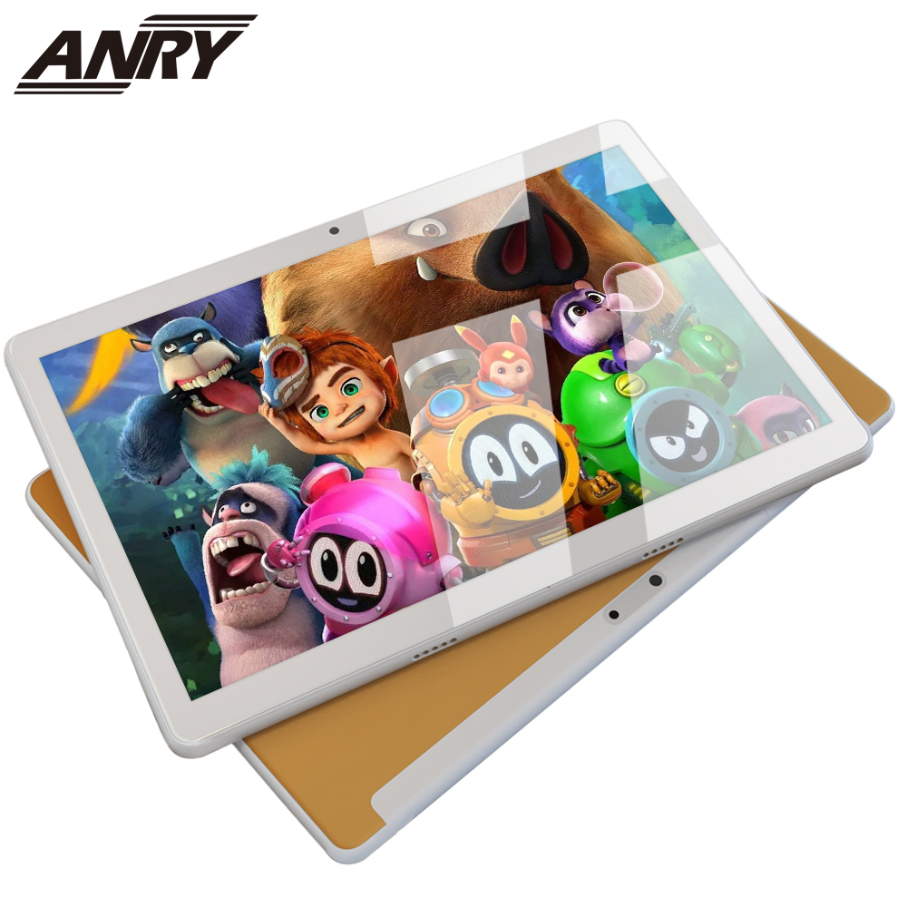ANRY Android Tablets MTK6580 Quad Core 10.1 Inch Dual Sim Tablet PC Android 7.0 GPS Wifi 3G Phone Call Tablet Black/Gold/Silver