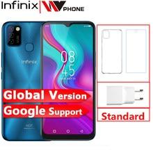 Versão global infinix quente 10 lite 2gb 32gb telefone móvel 6.6 hd hd hd 1600*720p 5000mah bateria 13mp câmera helio a20