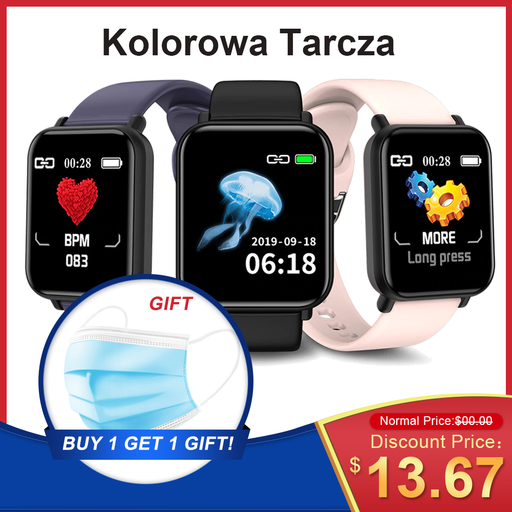 Fitness Equipment R16 Smart Watch Waterproof Smartwatch Blood Pressure Fitness Tracker IOS Android With Face Mask As KN95 KF94