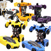 35 Kinds Styles One-key Deformation Car Toys Automatic Transform Robot Plastic Sports Police Car Model Car Diecasts Toy