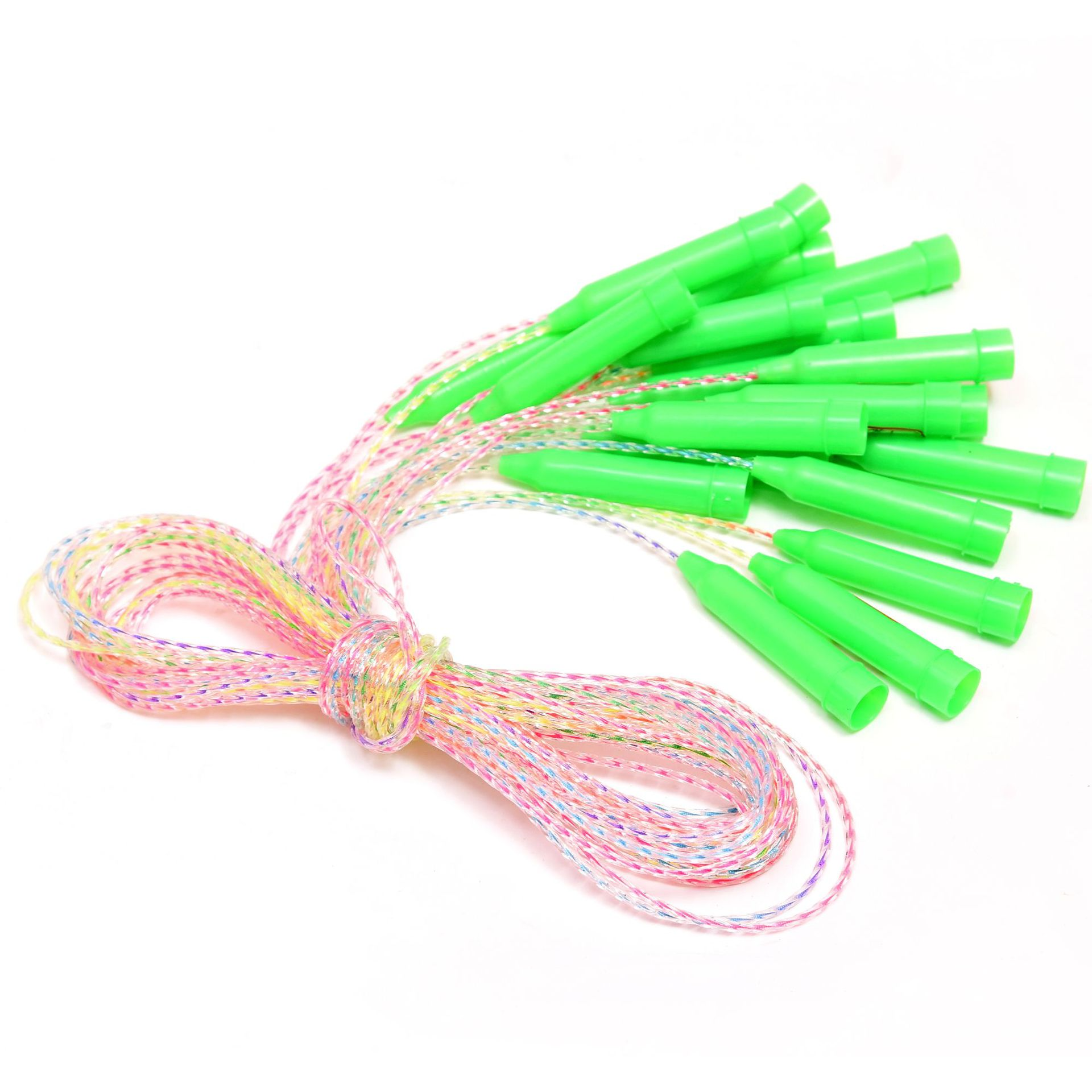 Fine Colorful Cool Pp Jump Rope Children Fitness Sports Plastic Hollow Handle Jump Rope Pp Jump Rope