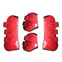 Horse-Leg-Boots Riding Brace-Guard Protection-Wrap Farm Hind Adjustable Front 4pcs/Set