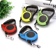 Pet leashes, pet dogs automatic retractable tractor, bone printing walking dog leashes