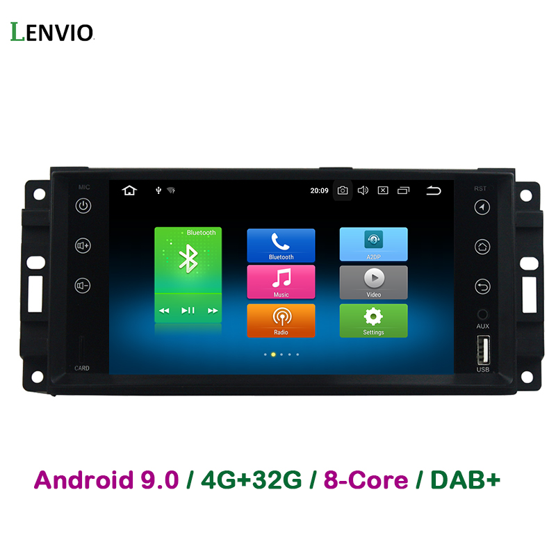 Lenvio 4GB RAM 32G ROM Octa Core Android 9.0 CAR DVD Player For Jeep Commander Compass Grand Cherokee Wrangler Chrysler 300C