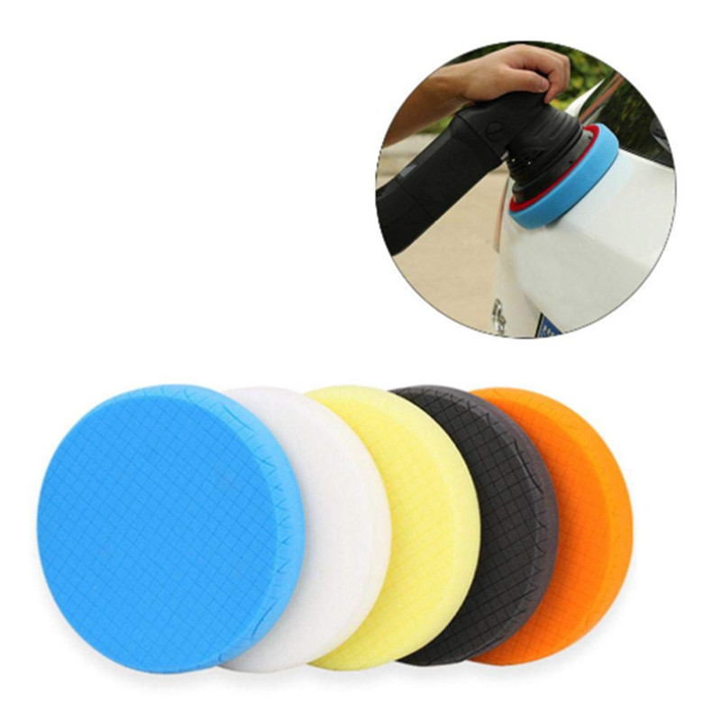 5PCS 4Inch Polishing Sponge Waxing Buffing Pads Kit Set For Auto Car Polisher