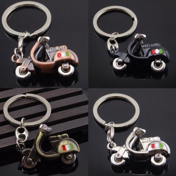 Motorcycle 3D Keychain Scooter Decoration Metal Keyring For Vespa Piaggio 125 Ducati Honda Yamaha Suzuki Key Holder Accessories image