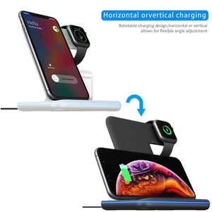 Image 3 - 3 in 1 Qi Wireless Charger For iPhone 11 8 X XS XR Samsung S10 S9 15W Fast Charging Dock Stand for Apple Airpods Pro Watch 5 4 3
