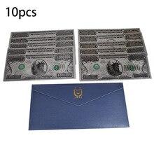 10 шт./лот серебро Фольга один миллион долларовая банкнота односторонняя цветная печать Статуя Свободы коллекция банкнот