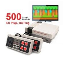 Mini TV Video Game Console Handheld Family Recreation Game Dual Gamepad AV Port Built in 500 Classic Games Retro Gaming Player