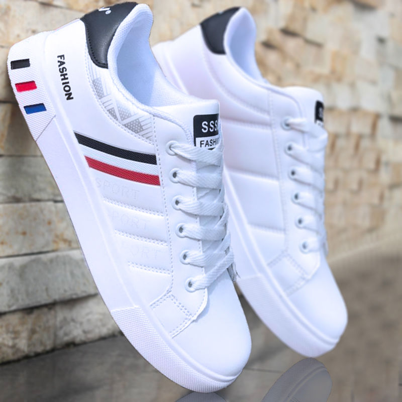 White Casual Shoes Men Leather Sneakers Male Comfort Sport Running Sneaker Man Tenis Mocassin Fashion Breathable Shoes