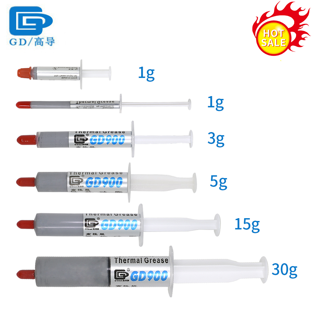 1g 3g 7g 15g 30g GD GD900 Thermal Paste/Grease For CPU Cooler PC Processors Conductive Heatsink Plaster Compound Heatsink Plaste