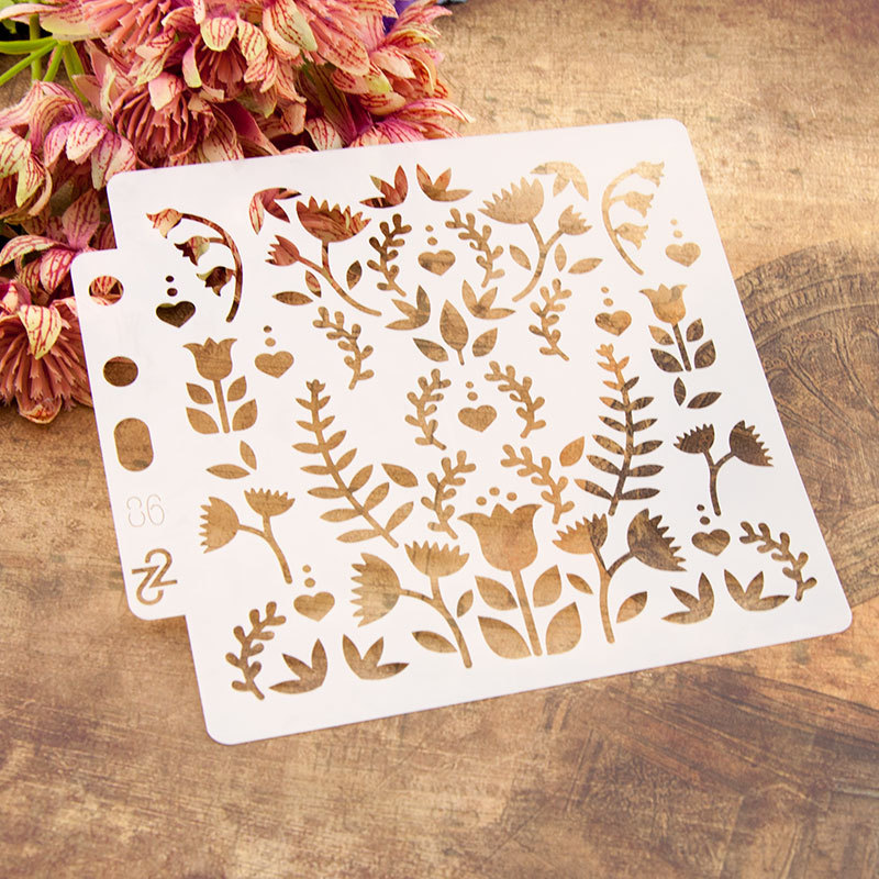 13*14cm Grass Leaves Plants DIY Layering Stencils Painting Scrapbook Coloring Embossing Album Decorative Card Template