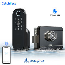 Fingerprint Door Lock Waterproof Outdoor Gate Bluetooth Lock TT Lock App Passcode Rfid Card Keyless Front Electronic Lock