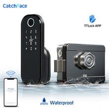 Vingerafdruk Deurslot Waterdichte Outdoor Gate Bluetooth Lock Tt Lock App Wachtwoord Rfid Card Keyless Front Elektronisch Slot