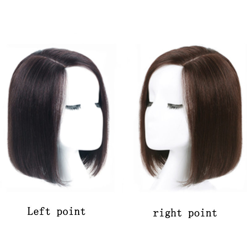 Women Short Straight Synthetic Hair Wigs  Natural Black Dark Brown 2color Available Women Bob Wig