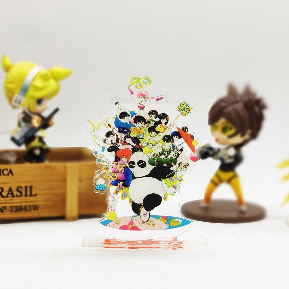 Ranma 1/2 familie Genma Akane Ryouga acryl stand figuur model plaat houder cake topper anime Japanse cool