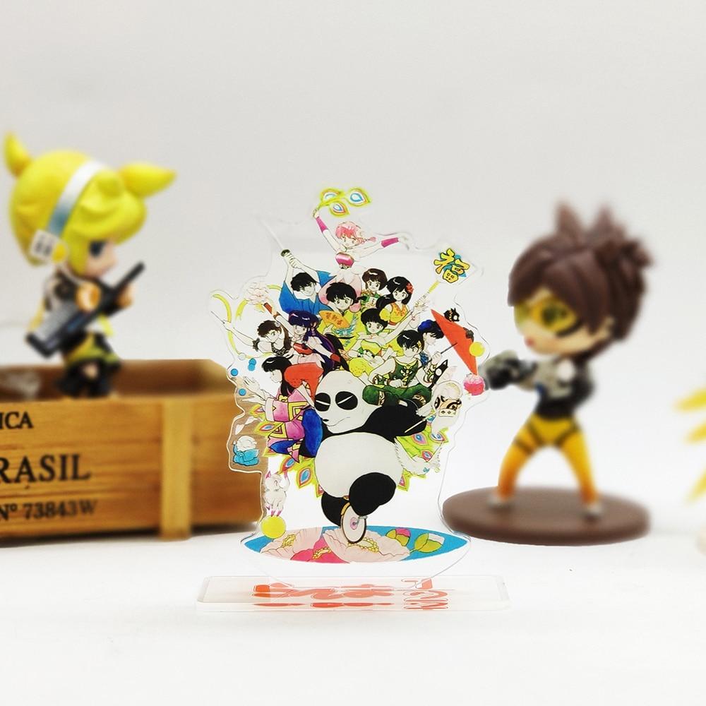 Ranma 1/2 Family Genma Akane Ryouga Acrylic Stand Figure Model Plate Holder Cake Topper Anime Japanese Cool