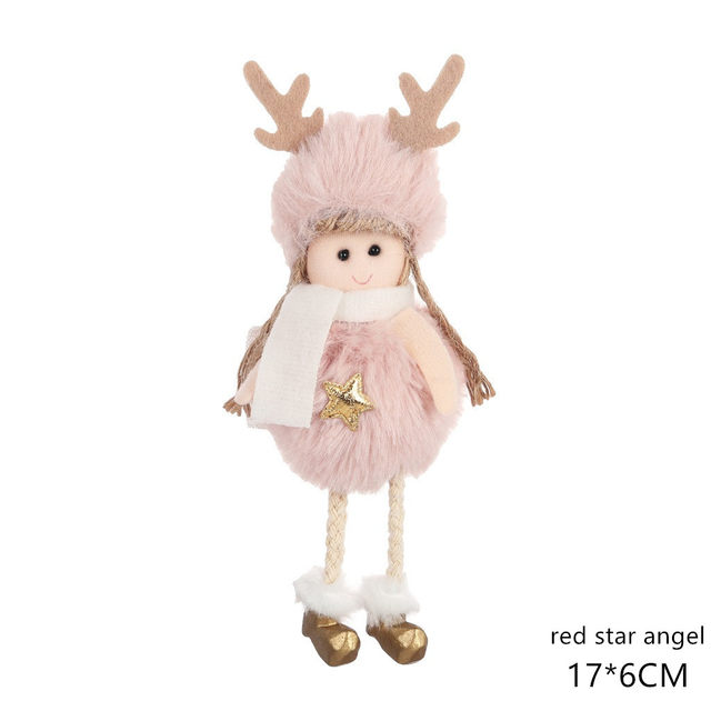 New Year 2020 Cute Santa Claus/Snowman/Angel Christmas Dolls Noel Christmas Tree Decoration for Home Xmas Navidad 2019 Kids Gift 180