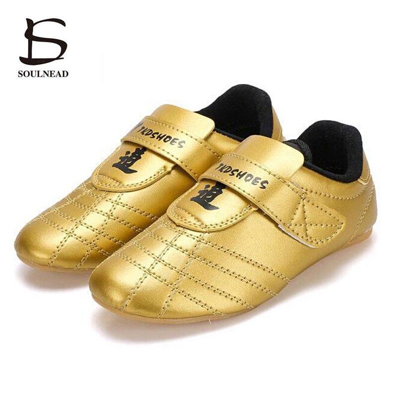 Soft Sole Taekwondo Shoes Men Kung Fu Martial Arts Shoes Adult Children Breathable Sneakers Taichi Wushu Karate Wrestling Shoes