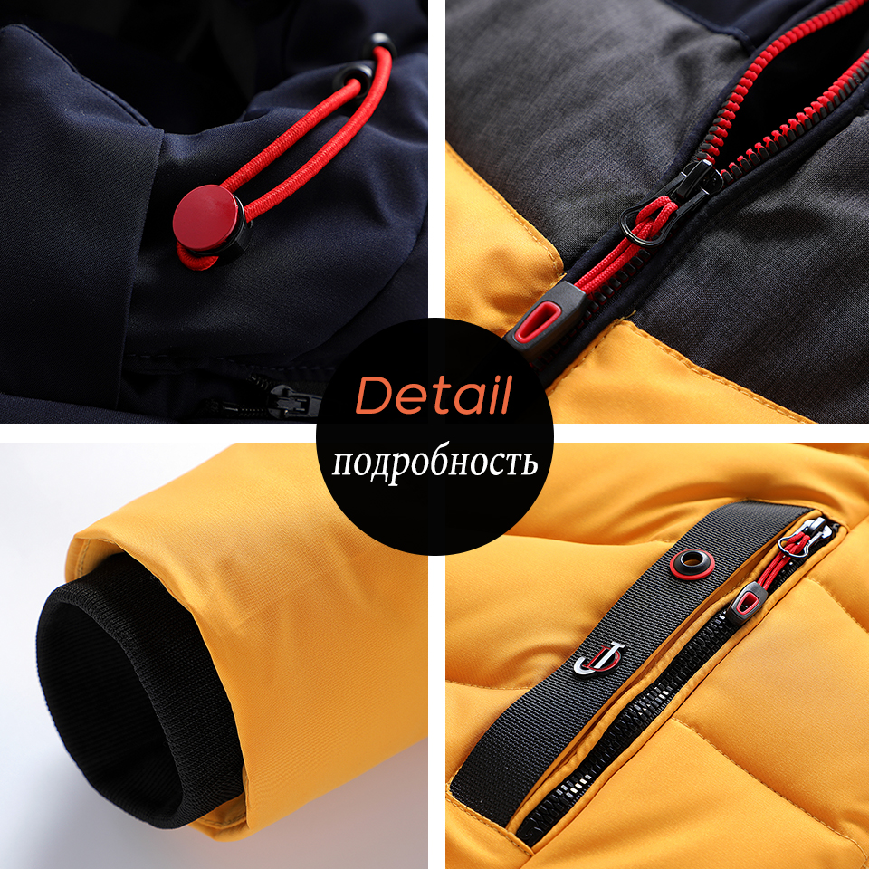 Men 2020 Winter Brand New Casual Warm Thick Waterproof Jacket Parkas Coat Men New Autumn Outwear Windproof Hat Parkas Jacket Men 6