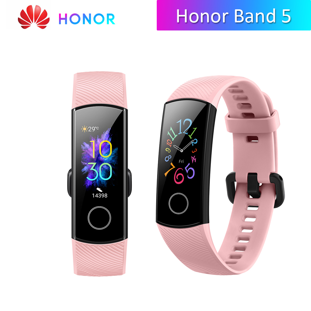"HUAWEI Honor Band 4 band 5 AMOLED Fitness Armband Tracker Heart Rate Monitor Wasserdichte 0.95 ""BT 4,2 Smart Band globle Version"