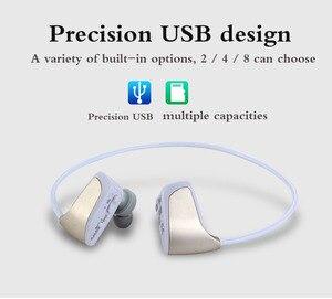 Image 4 - אלחוטי אוזניות MP3 תלמיד ספורט ריצה אלחוטי אוזניות אחד מכונה MP3 לביש Lossless מוסיקה נגן