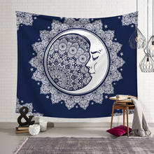 Sun Moon Palm Boho Tapestry Hippie Wall Hanging Bedspread Throw Cover Home Decor(China)