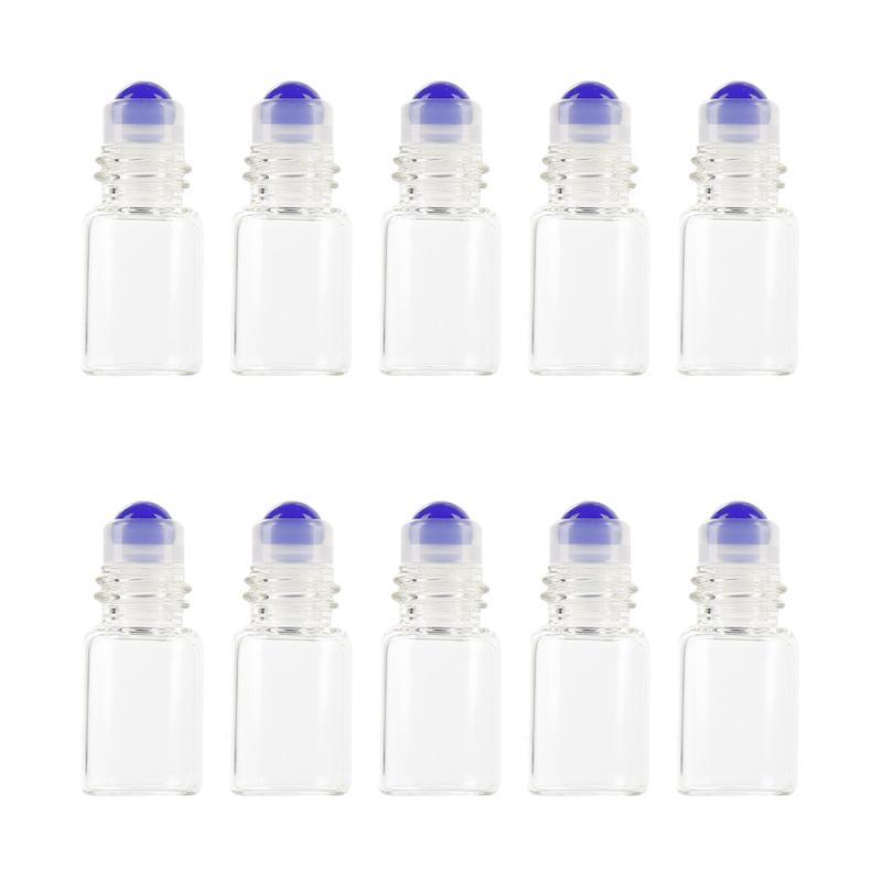 10 Pcs/Pack 2ml rouleau de verre Transparent sur bouteille échantillon Test flacons dhuile essentielle avec rouleau pour conteneur cosmétique de voyage
