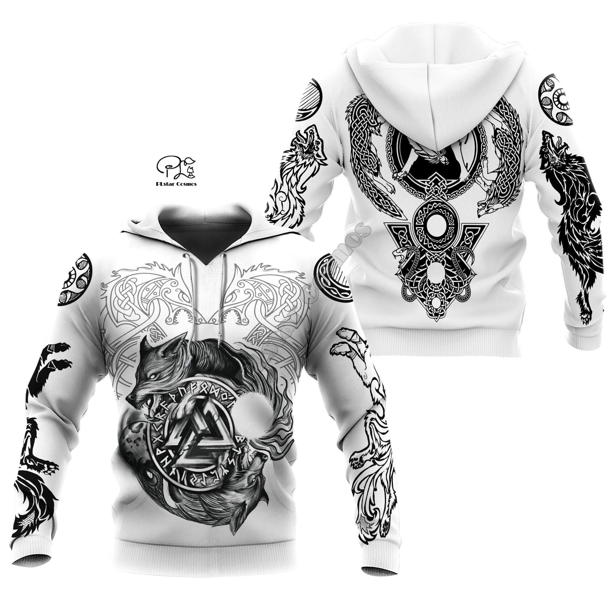 PLstar Cosmos Viking Armor Tattoo Warrior Viking God Odin Symbol NewFashion Tracksuit Harajuku Funny 3Dprint Men/Women Hoodie A3