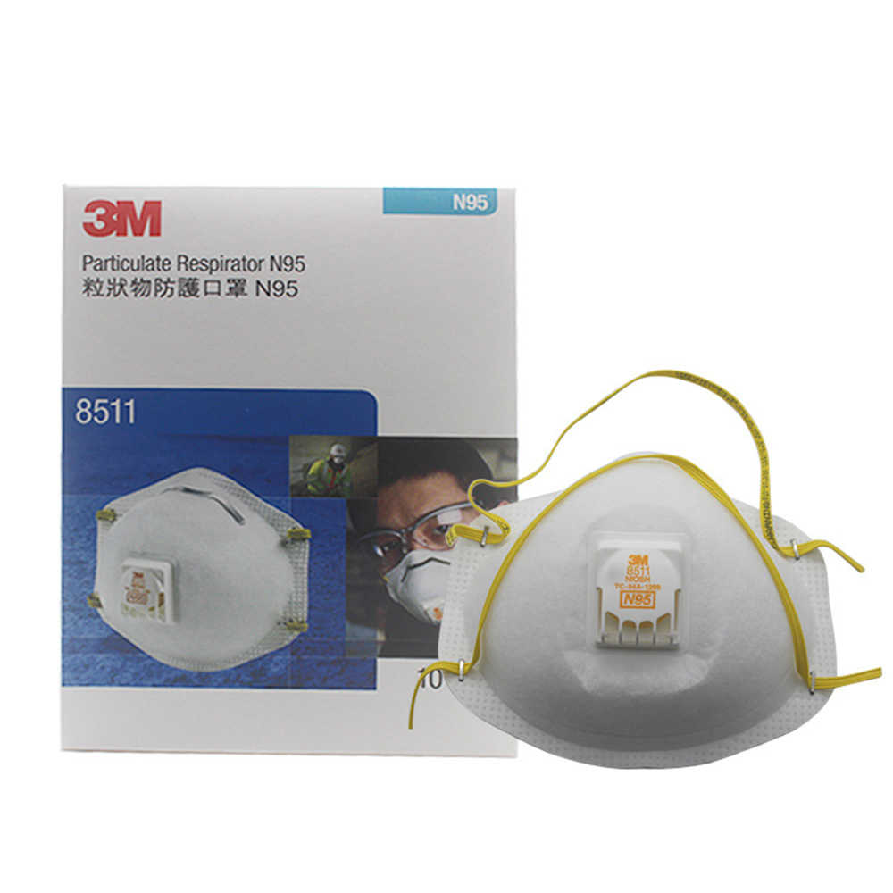 8511 n95 particulate respiratior w valve dust mask