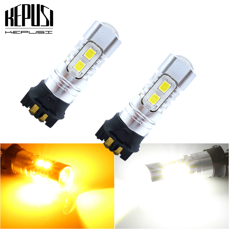 2x Canbus PW24W PWY24W <font><b>LED</b></font> DRL Turn signal light For Audi A3 A4 A5 Q3 BMW 3 Series F30 <font><b>F31</b></font> F34 Ford Fusion VW Golf 12V 24V image