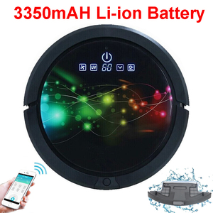 Image 2 - WiFi Smartphone App Control  Wet And Dry Mop Smart Vacuum Cleaner Robot QQ6 With Water Tank,3350MAH Lithium battery