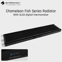 480mm Radiator 120mm Fan Barrowch Acrylic/pom-Inlet Chameleon Fish with Oled-Display