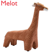 Large Originality Giraffe Stool Northern Europe Style Designer Furniture Sit Stool Low Stool Decorate Ornament Gift