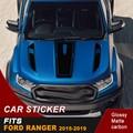 Бесплатная доставка наклейки для автомобиля крутой капот стикер капот Графический виниловый автомобильный стикер Подходит для Ford ranger 2015 ...