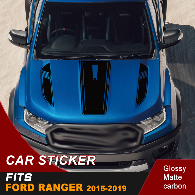 Free Shipping  Cool Hood Bonnet Sticker Bonnet Graphic Vinyl Sticker For Ford Ranger 2015 2016 2017 2018 2019