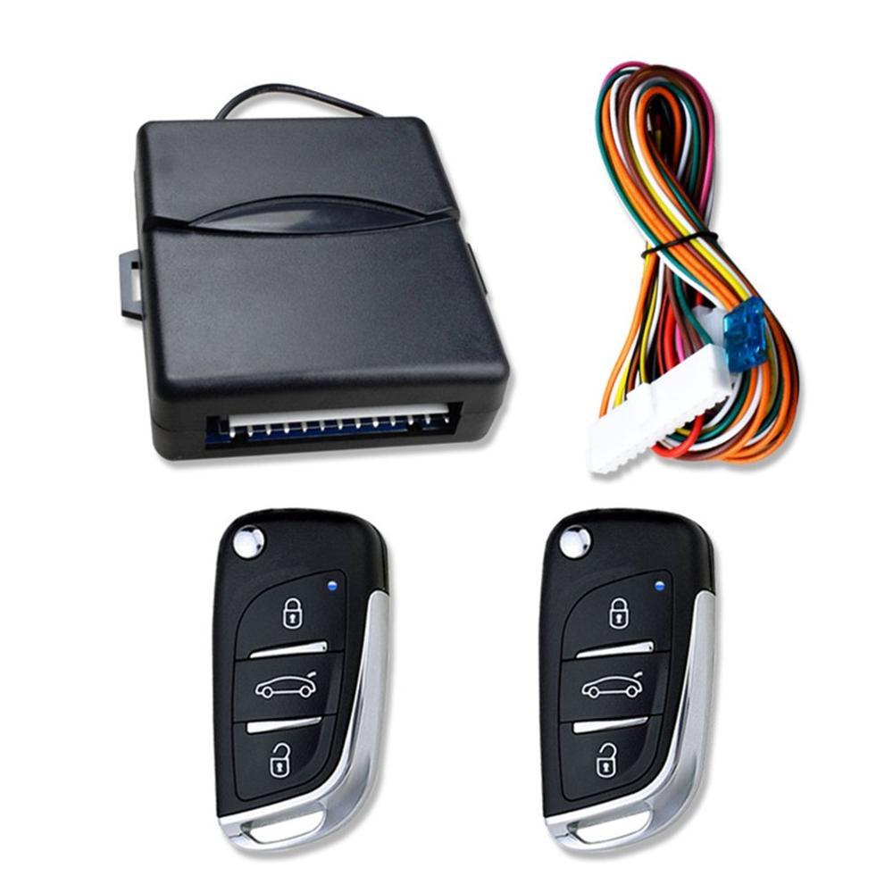 אוניברסלי רכב אוטומטי מערכת כניסת Keyless כפתור Start Stop LED Keychain ערכת מרכזי מנעול דלת עם שלט רחוק