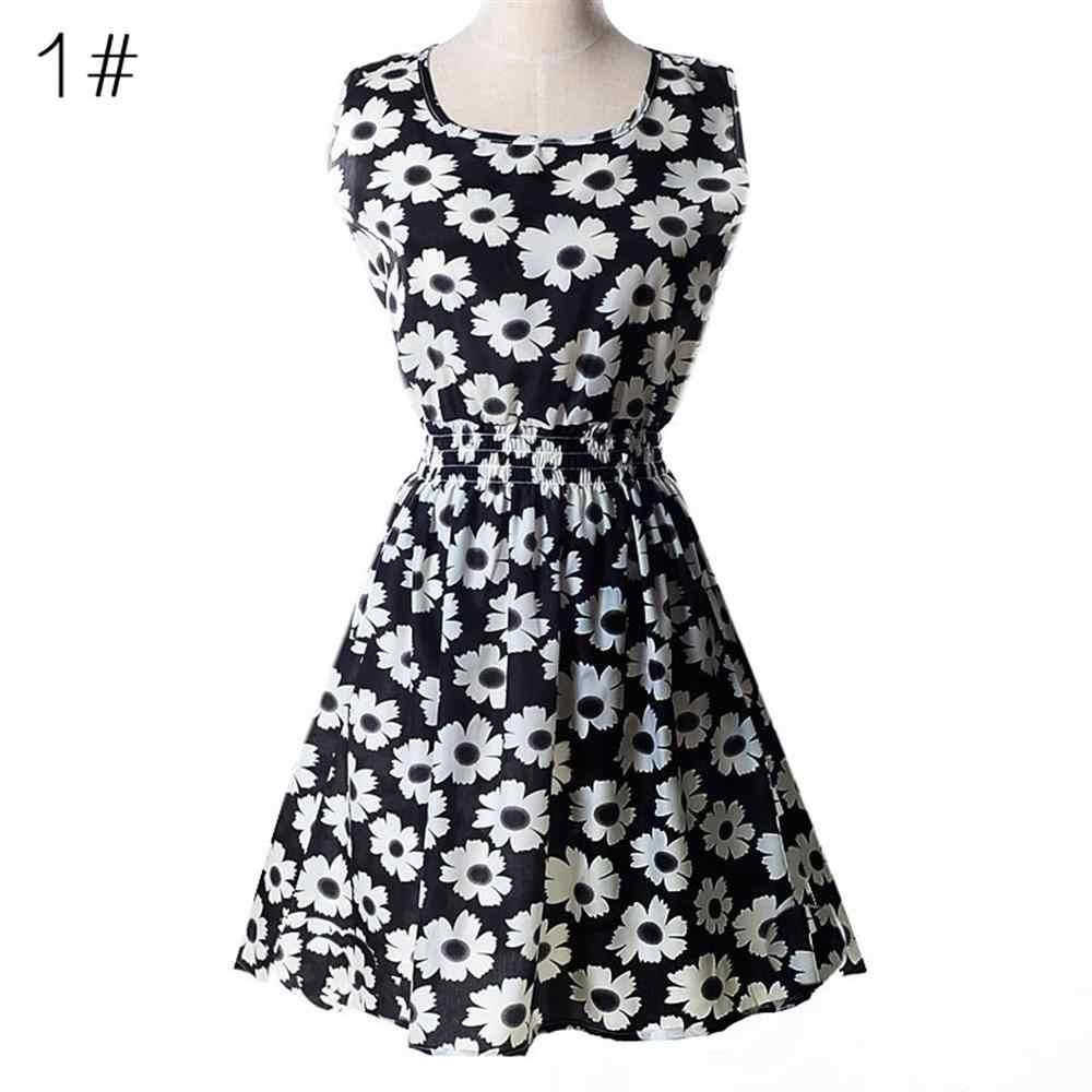 Платье женское повседневное 2019 летнее шифоновое платье Женская сексуальная одежда мини цветочное короткое пляжное платье большого размера халат Femme