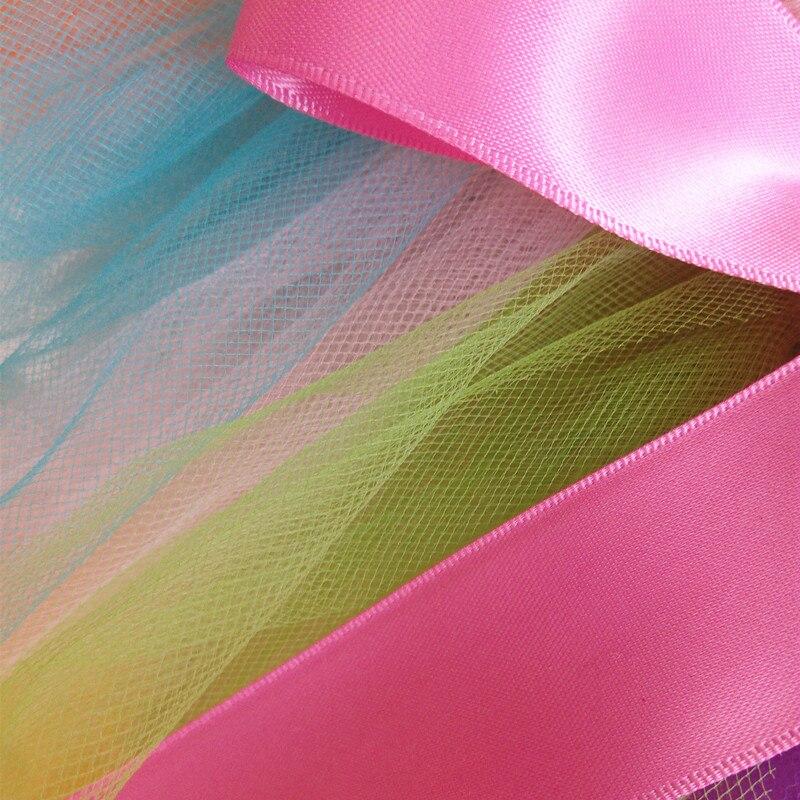 Tutu Skirt Girls Baby Birthday Party Fluffy Rainbow Skirt Black Multi Colors Handmake Ballet Dance Skirt Christmas Costume Tutu 3