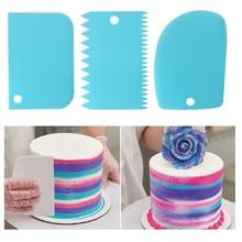 3 шт./лот скребок для крема неровные края для зубов DIY скребок для украшения торта помадка Кондитерские резаки для выпечки лопатки инструменты формы
