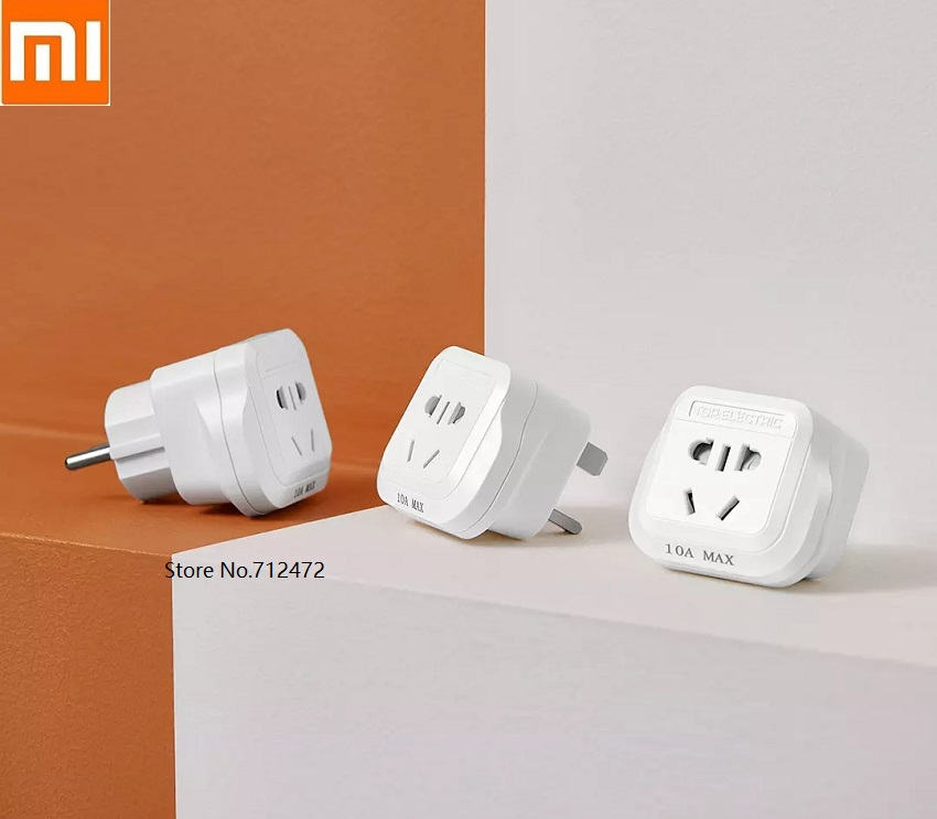 Xiaomi Universal DE UK US AC Power Socket Plug Travel Charger Adapter Plug Converter Switch Shift