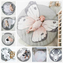 Baby Play Mat Pad Cotton Newborn Infant Crawling Blanket Playmat Round Carpet Floor Rug Kids Children Room Decor Children Mat